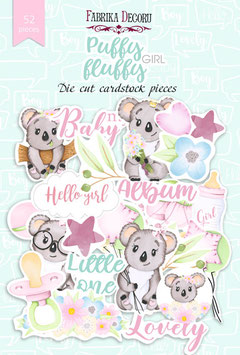 "Fabrika Decoru Die Cuts ""Puffy Fluffy Girl"""