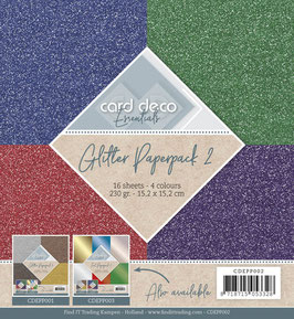 Card Deco Glitzerpapier - Glitzer 2