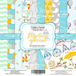 "Fabrika Decoru 8x8 Paper Set "" My Tiny Sparrow Boy"""