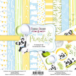 "Fabrika Decoru Double Sided Paper Set ""My Little Panda Boy"""