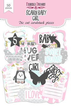 "Fabrika Decoru Die Cuts ""Scandi Baby Girl"""