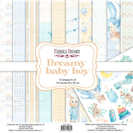 "Fabrika Decoru 8x8 Paper Set ""Dreamy Baby Boy"""