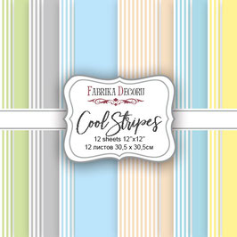 "Fabrika Decoru Paper Set 12x12 ""Cool Stripes"""