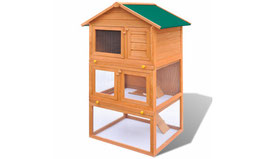 Clapier à lapin 3 étages en bois