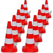 Lot de 10 cônes de signalisation