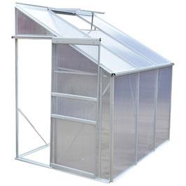 Serre aluminium et panneaux à double paroi en polycarbonate. 2,7 M²