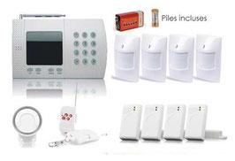Kit alarme sans fil prêt à poser