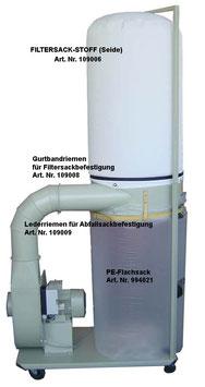 Filtersack Stoff (Seide)