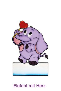 Elefant mit Herz