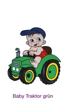 Baby Traktor Grün