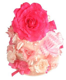 ウエディングケーキ大 ピンク