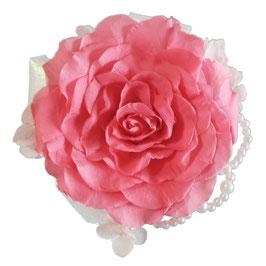 コサージュB 濃ピンク