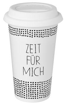 """Coffee to go Becher / Thermobecher """"Zeit für mich"""""""