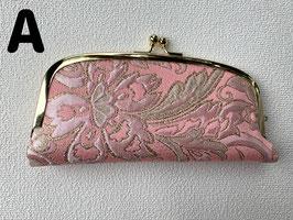 ピンクの花 眼鏡ケース