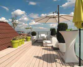 HPC Terrassendielen massiv 21 x 137mm, Beige