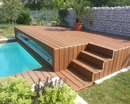 HPC Terrassendielen massiv 21 x 137mm Braun