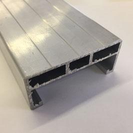 Unterkonstruktion Aluminium mit Doppelsteg 26 x 60mm per Lfm