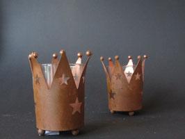 """Teelichthalter """"Krone"""" mit Sternen"""