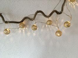 """Lichterkette """"Kugeln"""" LED 1,6 Meter"""