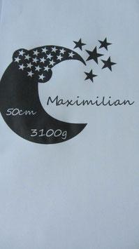 Mond, Sterne mit Wunschname/Größe/Gewicht