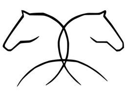 Pferdekopfsilhouette