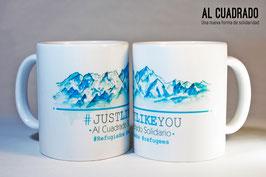 "Taza solidaria ""Montañas #JustLikeYou"""