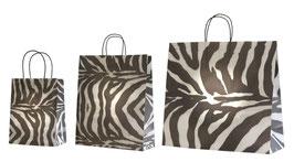 """Papiertragetaschen """"Zebra"""""""