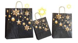 Weihnachtstasche Golden Stars