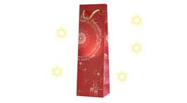 """Flaschentasche mit Weihnachtsmotiv """"Natale"""""""