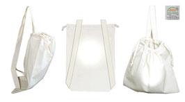 Rucksack aus Baumwolle mit Kordelzug