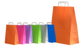 """Papiertaschen """"Fresh"""" in verschiedenen Farben"""