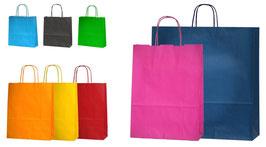 """Papier- Tragetaschen """"CARIBBEAN"""" große Farbauswahl an Frischen Taschenfarben"""