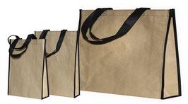 Mehrwegtaschen - Papier beschichtete Tragetaschen aus Non Woven