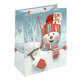 Weihnachtstragetaschen Schneemann Schneebubi