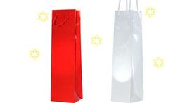 Flaschentragetaschen und Flaschentaschen in rot oder weiß