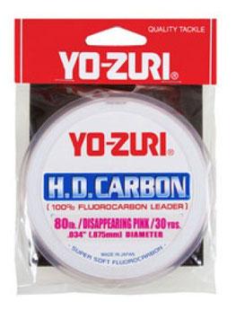 fluorocarbon yo-zuri h.d. carbon bob da 30yd pink e clear