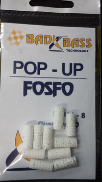 POP UP BAD BASS COLORE BIANCO PAIELETTATO MIS 6 BUSTA DA 10 PZ