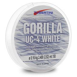 MONOFILO GORILLA UC-4 WHITE BOBINA DA 150MT