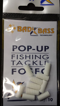 POP UP  BAD BASS  BIANCO FOSFORESCENTE MIS 6 BUSTA DA 10 PZ