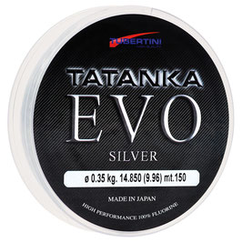 MONOFILO TUBERTINI TATANKA EVO SILVER IN BOBINA DA 150 MT