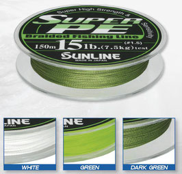 DYNEEMA SUNLINE SUPER PE 150MT GREEN