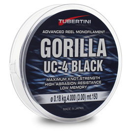 MONOFILO TUBERTINI GORILLA UC-4 BLACK BOBINA DA 350 MT