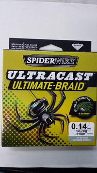 trecciato multifibra 270 MT spiderwire ultracast ultimate braid 8 fili novita' 2014