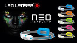 lampada frontale led lenser neo disponibile in 5 colori
