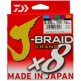 TRECCIATO DAIWA J-BRAID GRAND BOBINA DA 300 MT MULTICOLOR