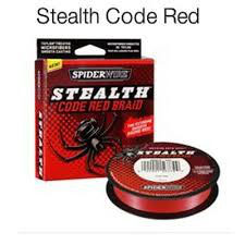 trecciato spiderwire stealth red bobine da 270 mt