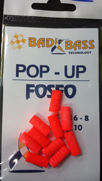 POP UP BAD BASS ORANGE FOSFORESCENTE MIS 6  BUSTA DA 10 PZ