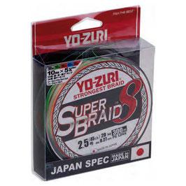 TRECCIATO YO-ZURY SUPER BRAID 8 CAPI MULTICOLOR BOB DA 300 MT