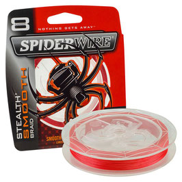 TRECCIATO SPIDERWIRE STEALTH SMOOT BRAID 8 CAPI  BOBINA DA 300 MT RED