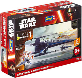 MAQUETA STAR WARS REVELL RESISTANCE X-WING FIGHTER